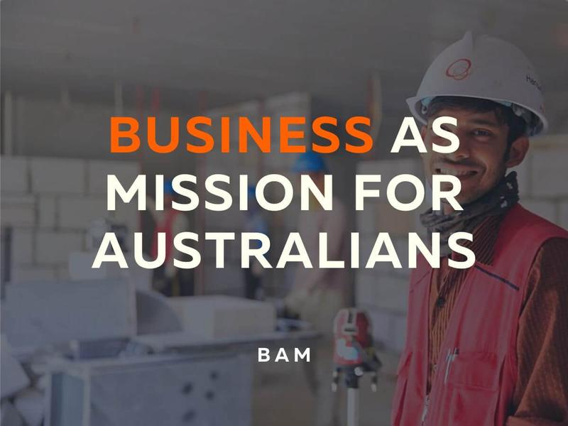 Business as Mission for Australians