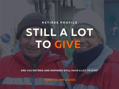 Still a lot to give - Retiree profile: Terry & Lyn Oades